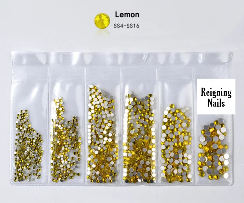 Premium Glass Rhinestones: Lemon