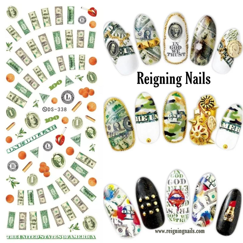 Money Nail Decals