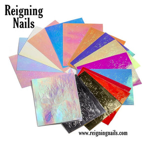 Iridescent Flame Nail Stickers