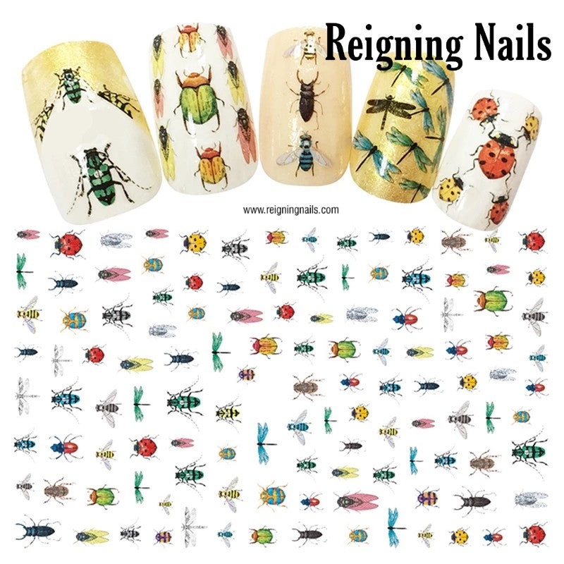 Insect & Bugs Nail Stickers