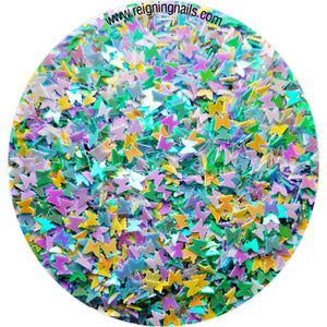 Multi-color Iridescent Butterfly Nail Glitter