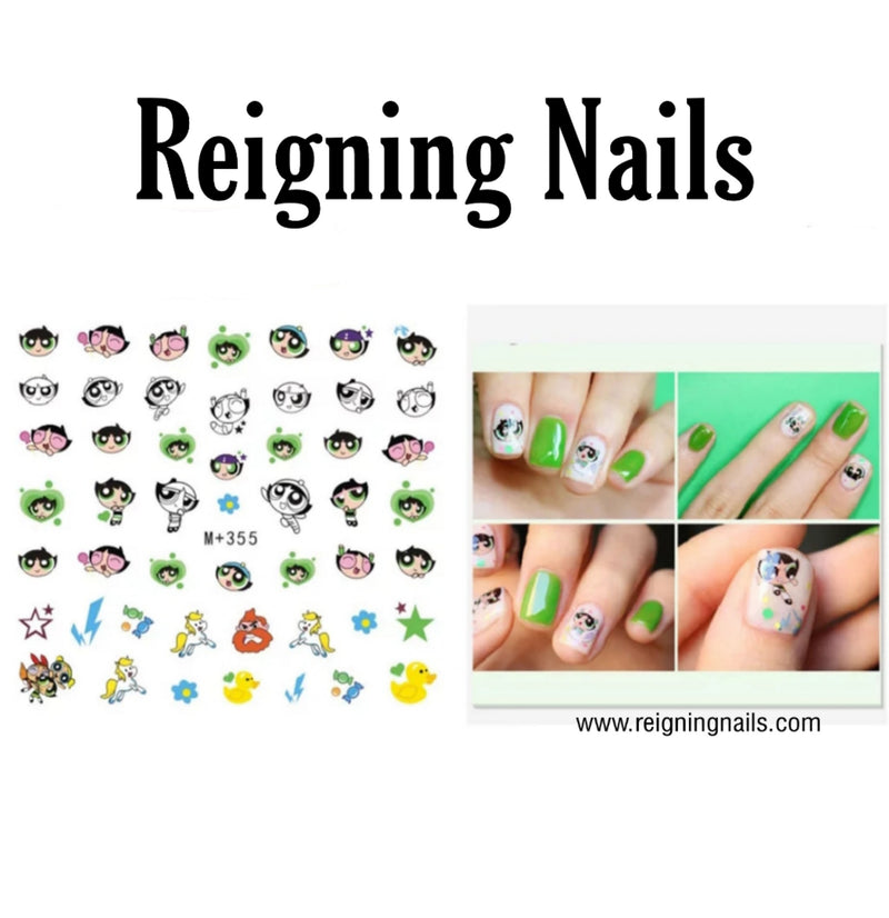 Buttercup Nail Decals