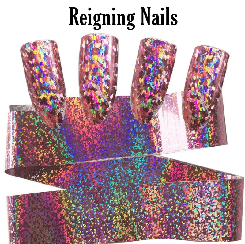 Holographic Pink Nail Foil
