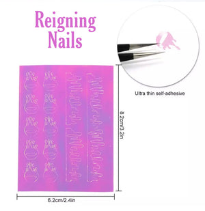 Iridescent Drip Nail Stickers