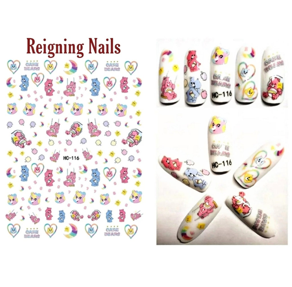 Care Bears Nail Stickers No.1