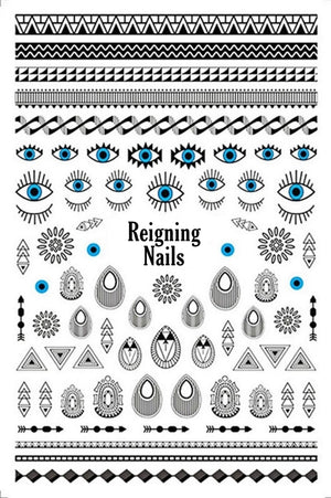 Tribal Eyes Nail Stickers