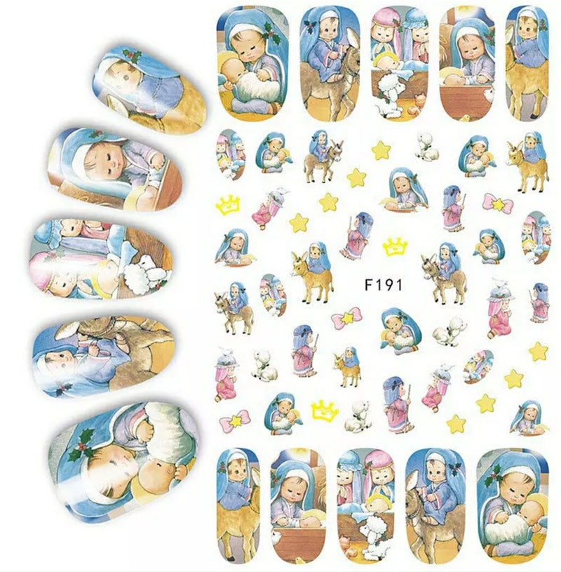Nativity Scene Nail Stickers