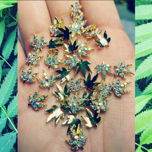 AB Crystal Weed Charms