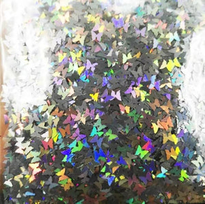 Butterfly Silver Holo Ultra-Thin Nail Glitter