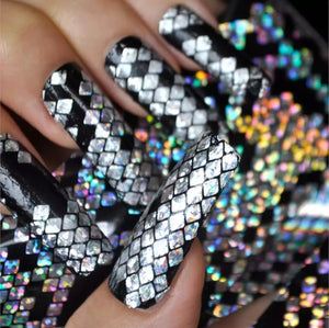 Holographic Snake Skin Nail Foil