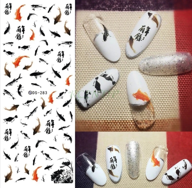 Koi Fish Nail Decals