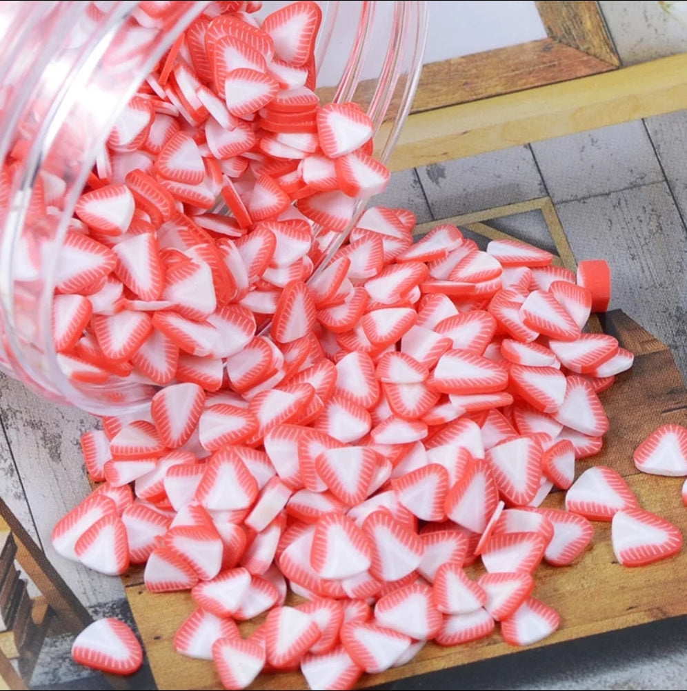 Fimo Strawberry Slices