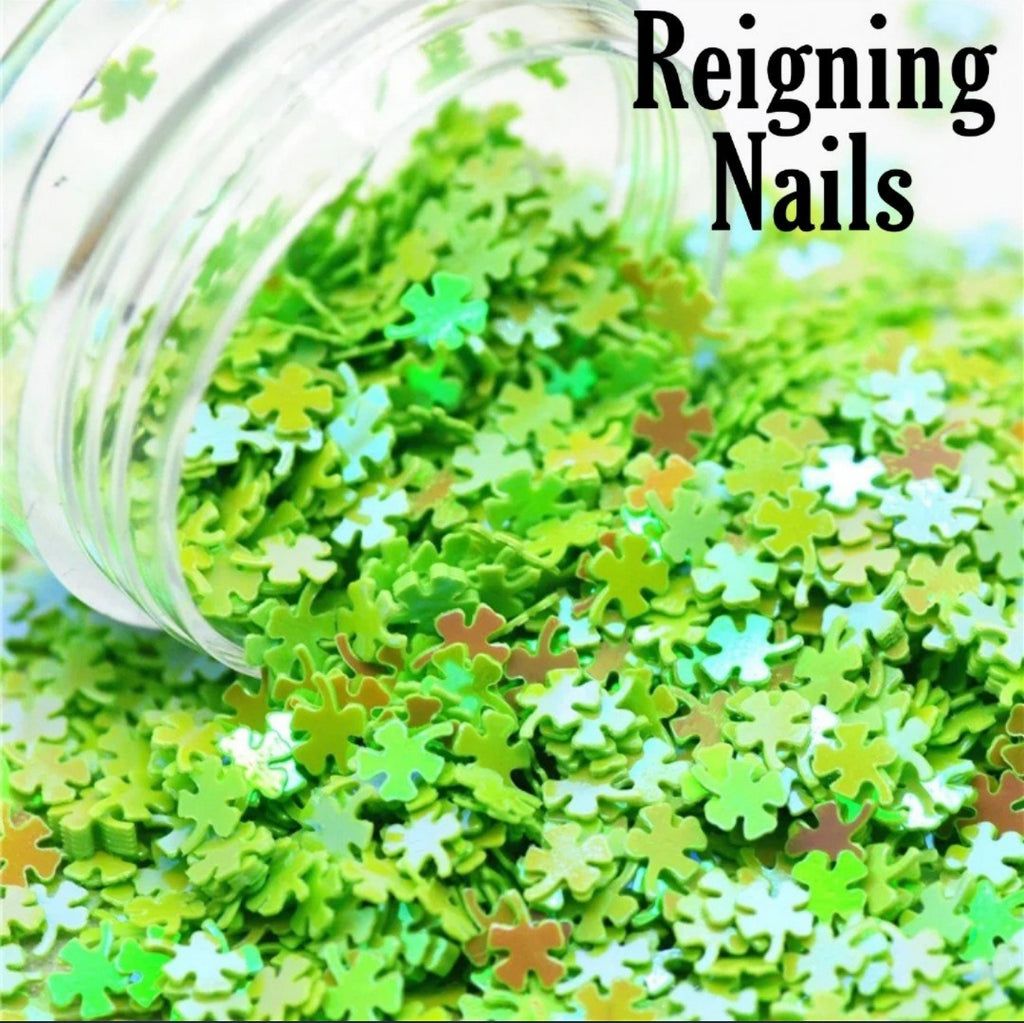 Green Four Leaf Clover Nail Glitter