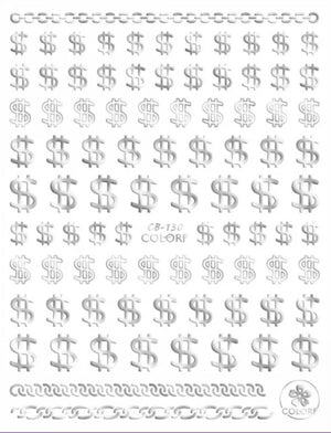 Dollar Signs Nail Stickers