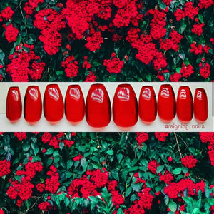 Red Glass Nails