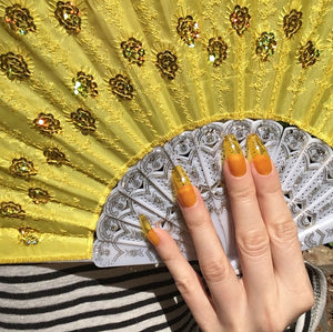 Yellow Glass Nails
