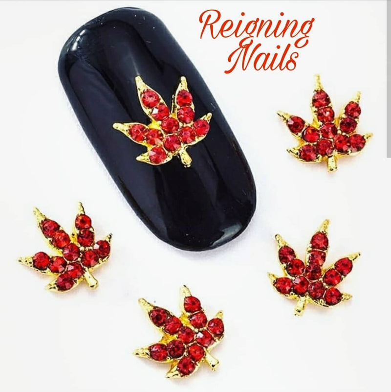 AB Red Crystal Weed Charms