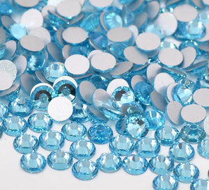 High Quality Glass Rhinestones: Sky Blue