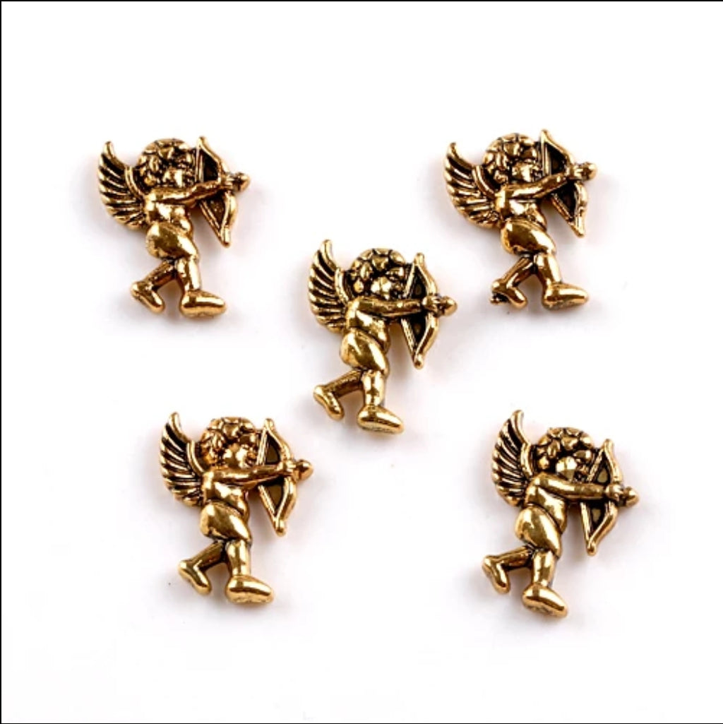 Bronze Cupid Nail Charms