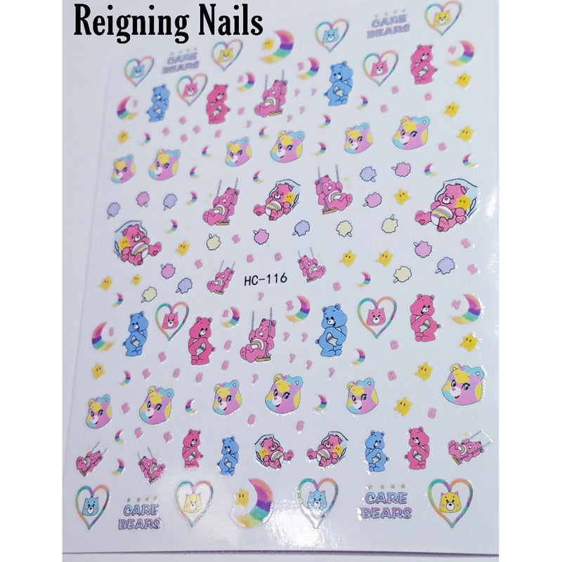 Care Bears Nail Stickers