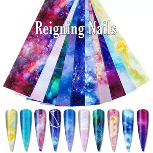 Galaxy Nail Foil Bundle No.12