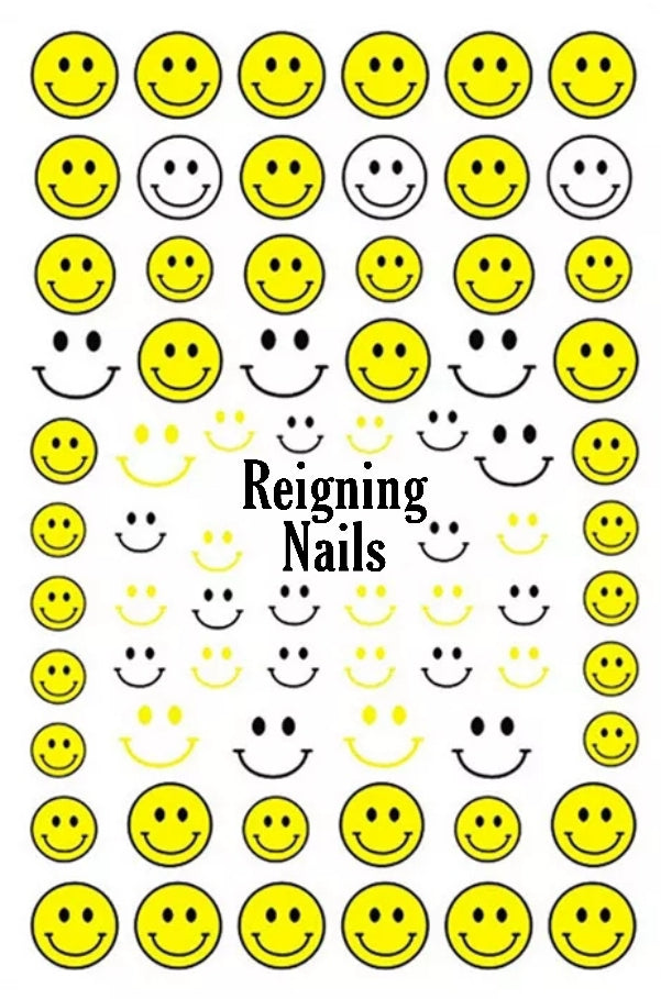 Happy Face Nail Stickers