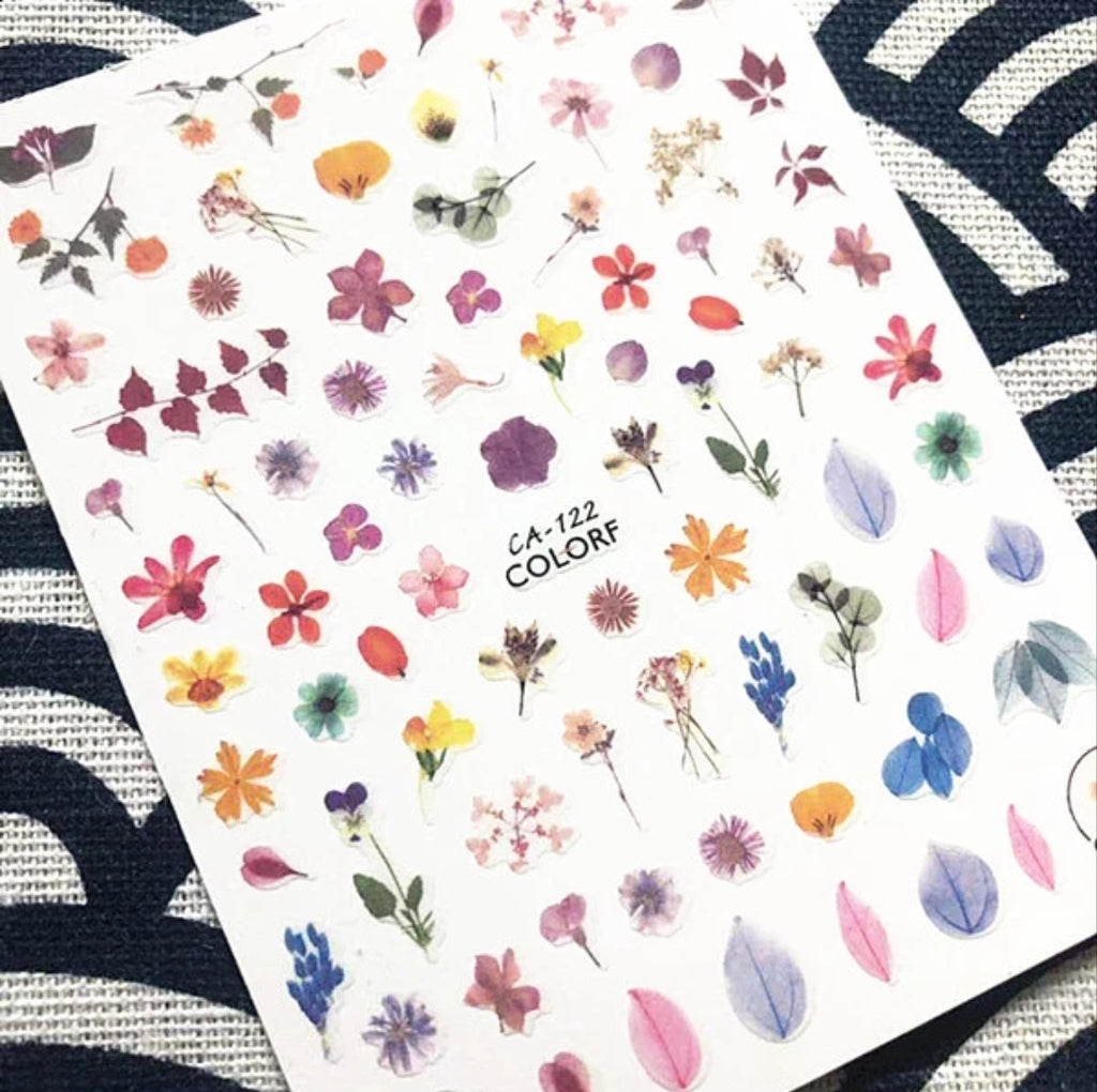Realistic Flower Nail Stickers