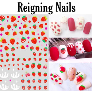 Strawberry Nail Stickers