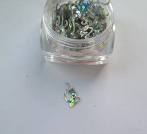 Baby Phat Silver Holo Nail Glitter