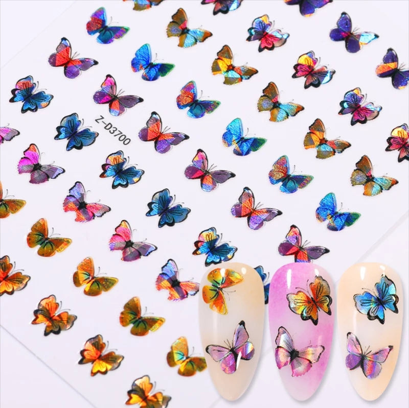 Iridescent Butterfly Nail Stickers No.00