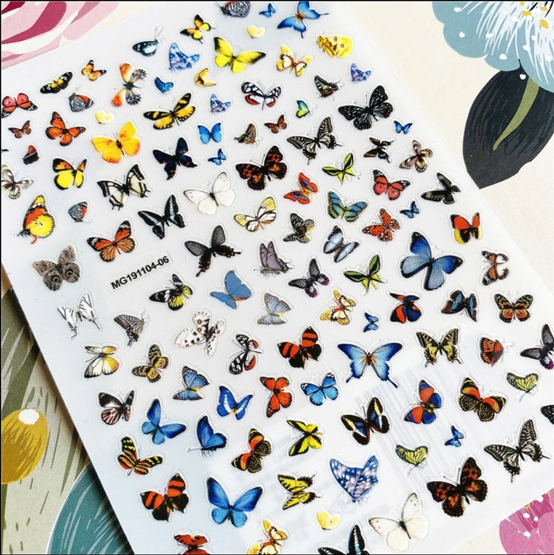 Butterfly Nail Stickers No.7