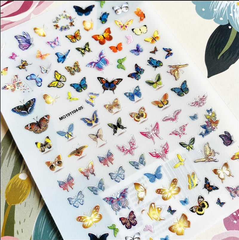 Butterfly Nail Stickers No.8