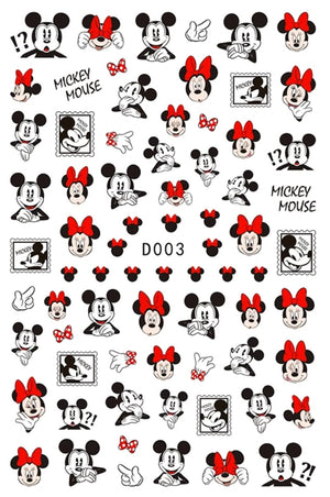 Mickey & Minnie Nail Stickers No.1