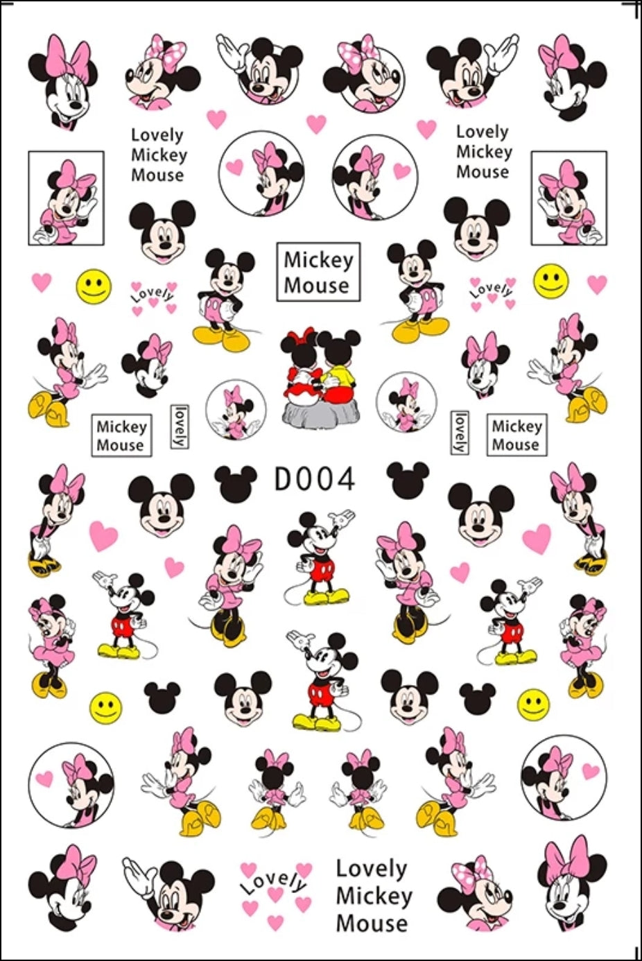 Mickey & Minnie Nail Stickers No.2