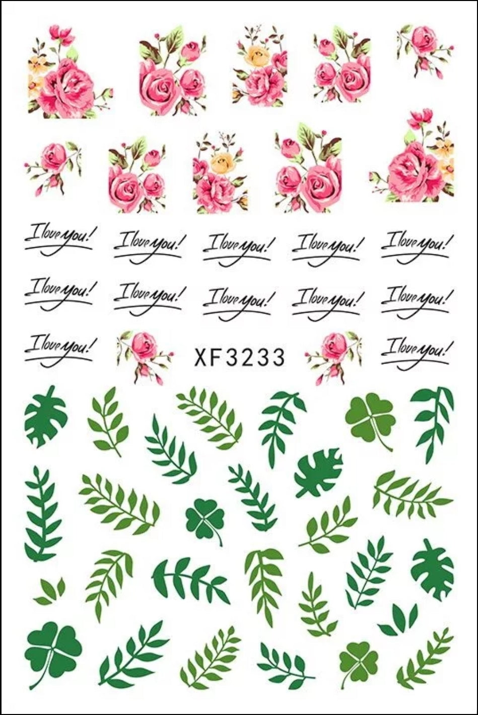 Flowers & Leaves Nail Stickers
