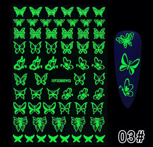 Glow In The Dark Nail Stickers