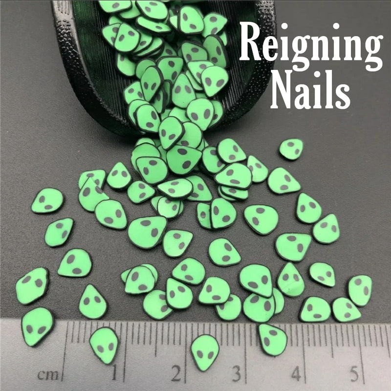 Alien Fimo Nail Slices