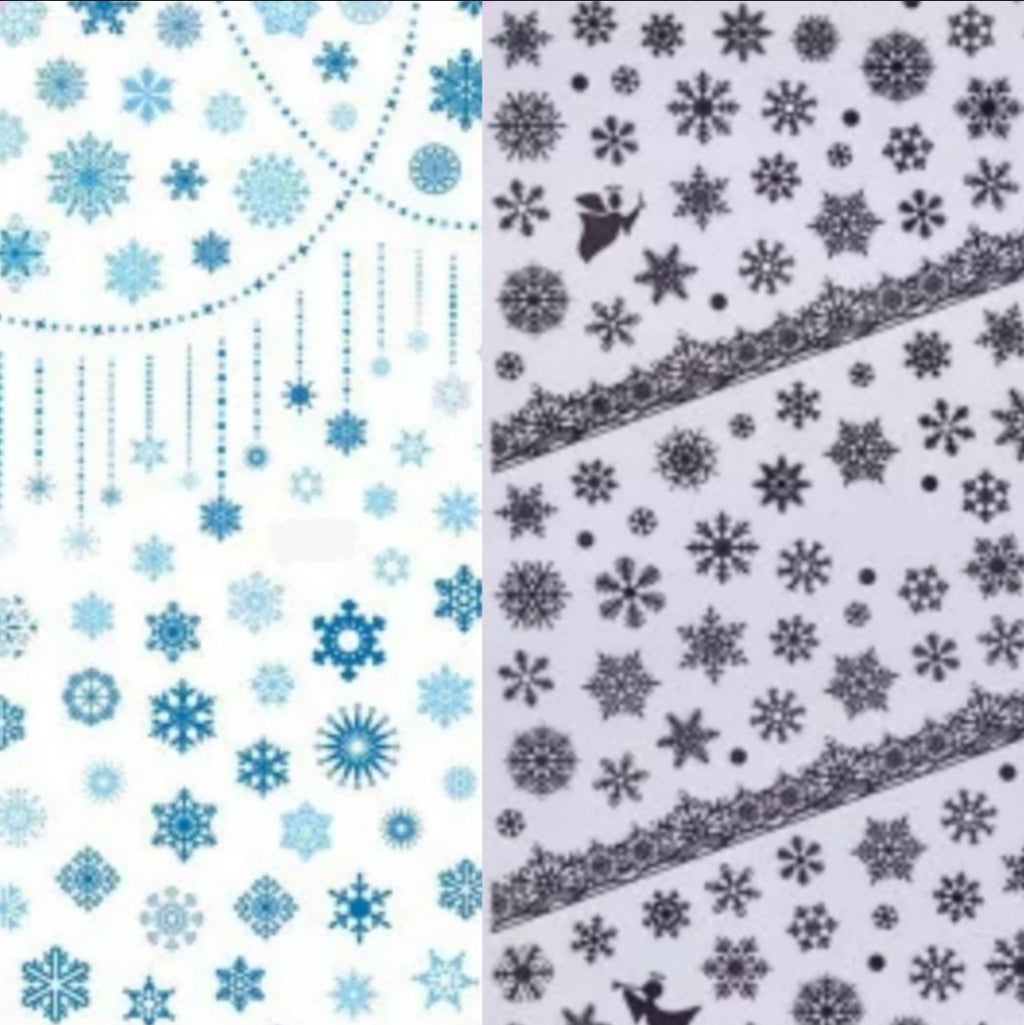 Winter Snowflake Nail Stickers