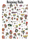 2 Choices PowerPuff Girls Nail Stickers