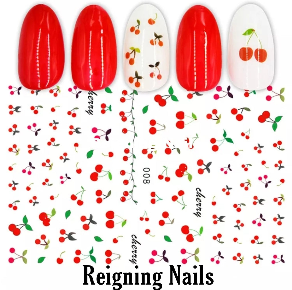 Cherry Nail Stickers No.2