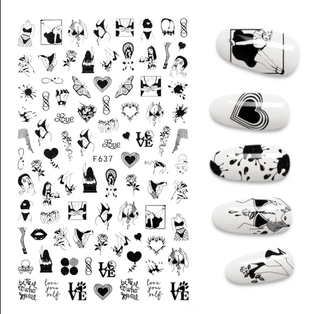 Lingerie Nail Stickers No.4