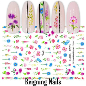 Spring Flowers Nail Stickers