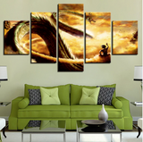 Ride the Dragon Canvas Painting