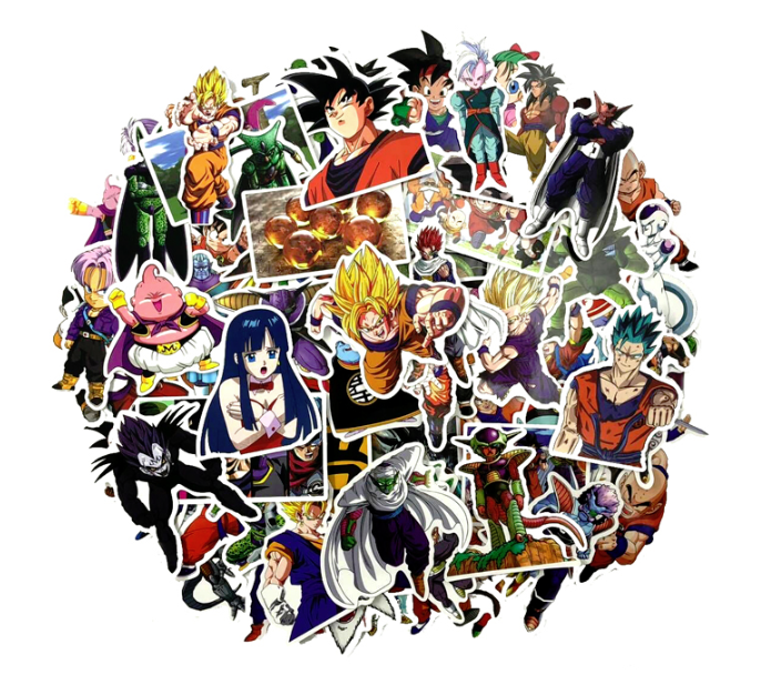 82 Piece Dragon Ball Stickers