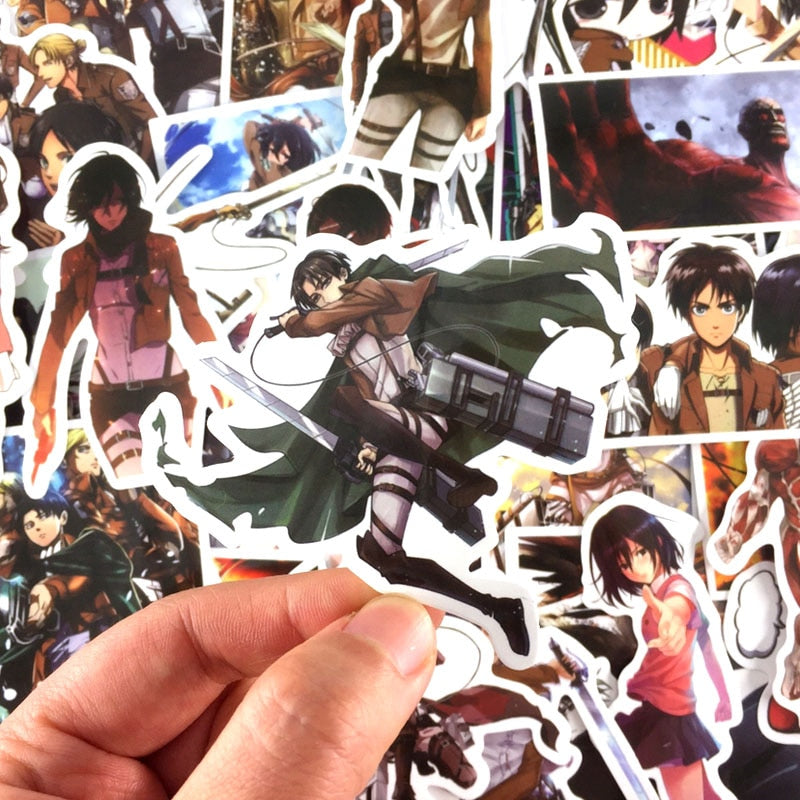39 Piece Attack on Titan Specialty Stickers