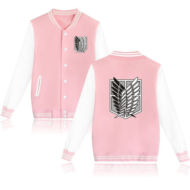 Attack on Titan Letterman Jacket Style 1 (Pink/White)