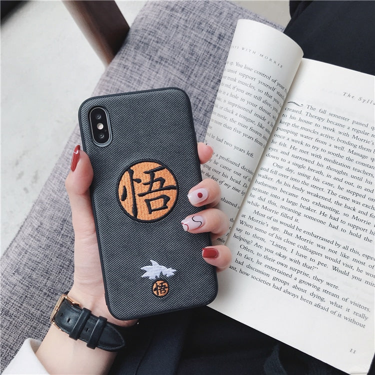 Embroidery Goku iPhone Case