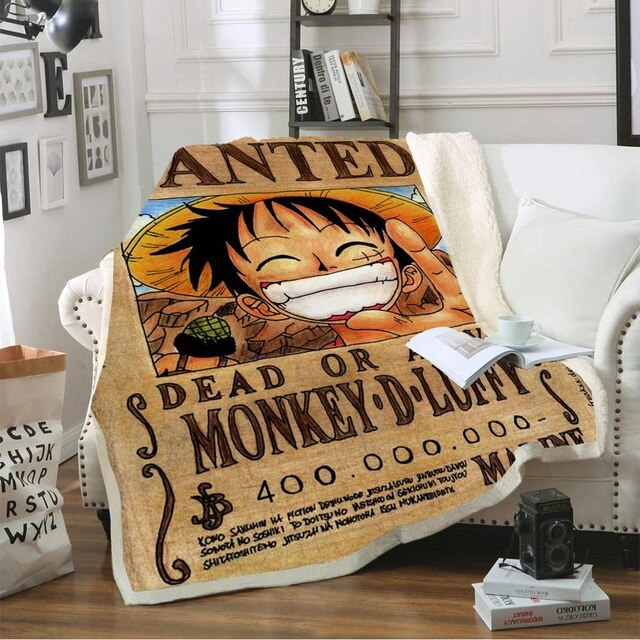 One Piece Wanted Luffy Blanket