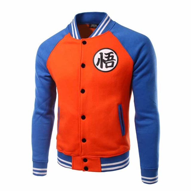 Goku Symbol Baseball Jacket (Orange/Blue)