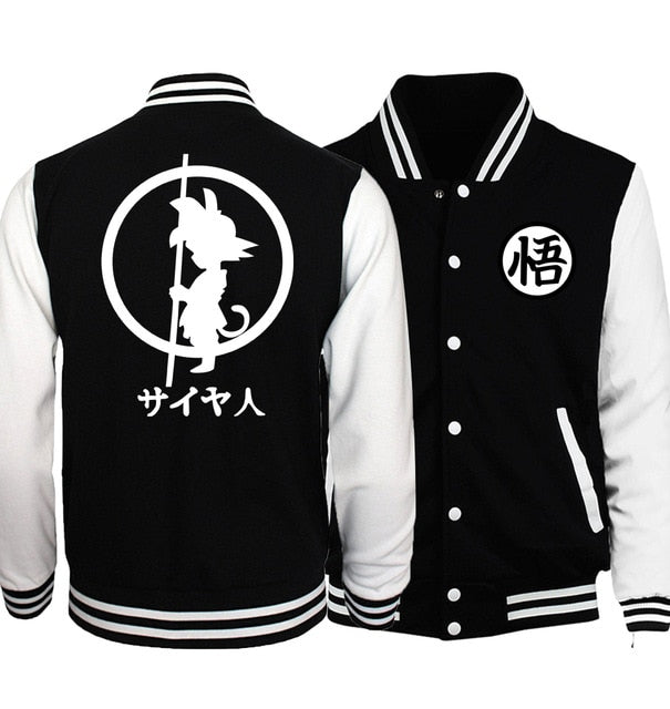 The Power of the Dragon Letterman Jacket (Black & White)